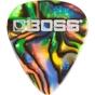 BOSS BPK-12-AT Celluloid Guitar Picks, 12-Pack, Abalone - Thin