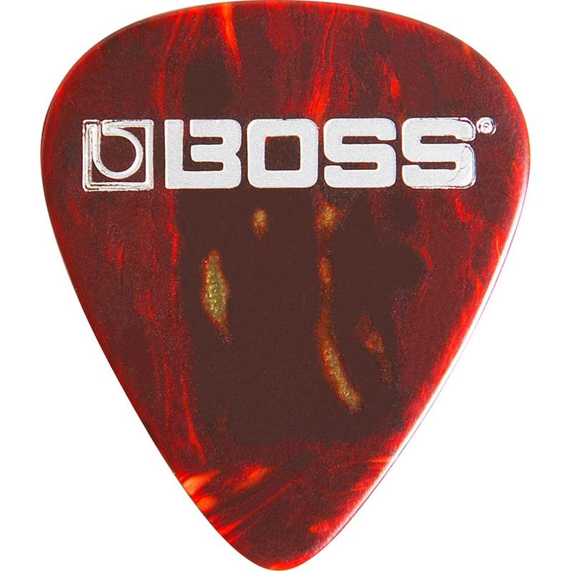 BOSS BPK-12-ST Celluloid Guitar Picks, 12-Pack, Shell - Thin