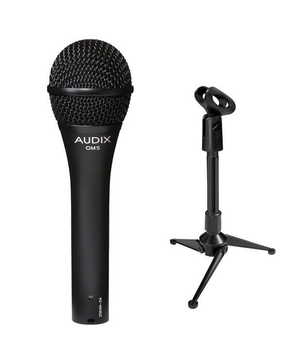 Audix OM-5 Dynamic Microphone with Mini Tripod Stand