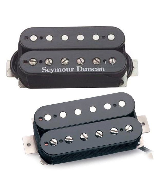 Seymour Duncan SH-6b Bridge SH-1n '59 Model Neck Humbucker Black Pickup Bundle