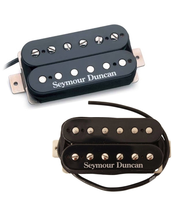Seymour Duncan SH-PG1n Neck SH-PG1b Bridge Pearly Gates Black Pickup Bundle