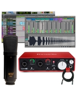 Focusrite Scarlett 2i2 (2nd Gen) Pro Tools Recording Interface with MXL 440 Microphone and 20' XLR Cable