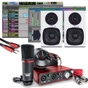 Focusrite Scarlett 2i2 Studio (2nd Gen) Pro Tools First Recording Pack with Fostex PM0.4d Monitors White
