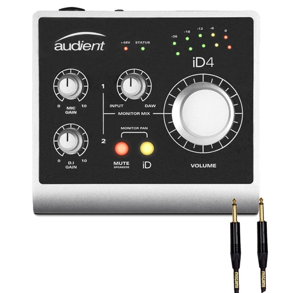 Audient ID4 High Performance USB Audio Interface with Mogami Instrument Cable