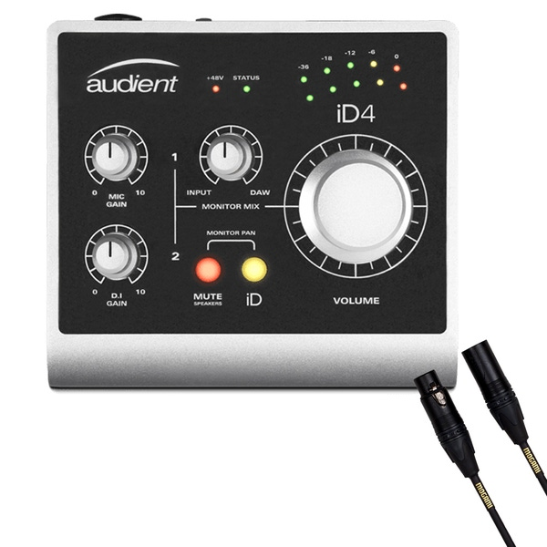 Audient ID4 High Performance USB Audio Interface with Mogami Microphone Cable