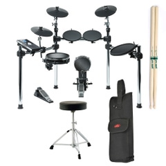 Alesis COMMAND KIT 8-Piece Drum Kit with Throne, Sticks, and Stick Bag