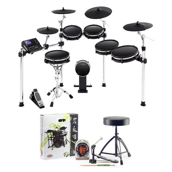 Alesis DM10 MKII Pro 10-Piece Electronic Drum Kit with Accessory Pack (Headphones, Sticks, Throne, and Pedal)