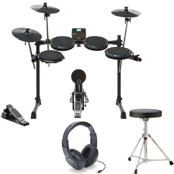 Alesis DM6 Nitro Kit 8-Piece Electronic Drum Kit with Throne and Headphones