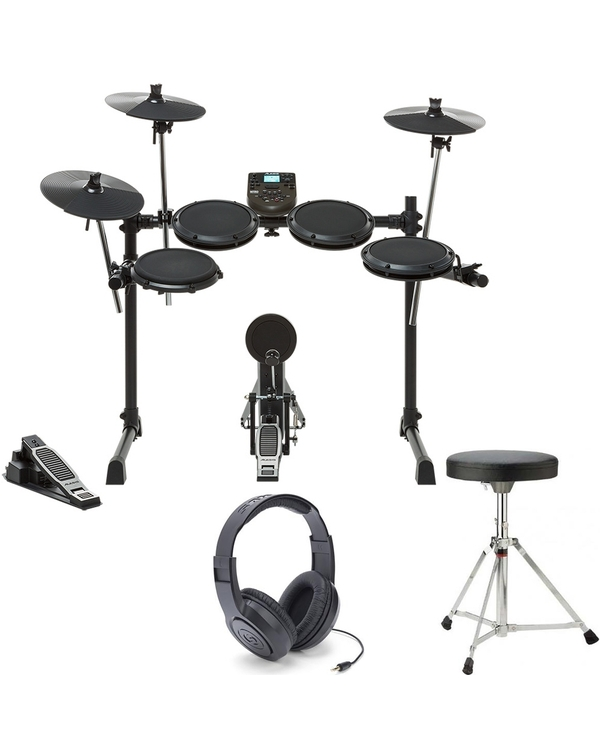 Alesis DM6 Nitro Kit 8-Piece Electronic Drum Kit with Throne and Headphones