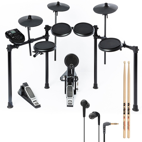 Alesis Nitro Kit 8-Piece Electronic Drum Set with Sticks and Earbuds
