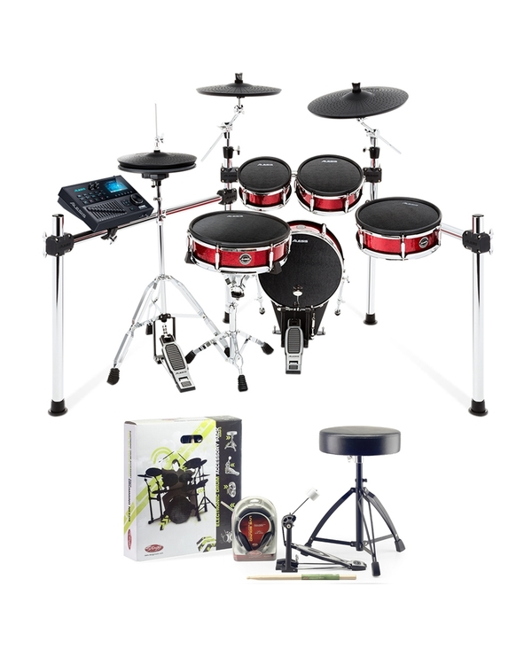 Alesis Strike Kit 8-Piece Electronic Drum Kit with Accessory Pack (Headphones, Sticks, Throne, and Pedal)