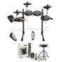 Alesis Turbo Mesh Kit Seven-Piece Electronic Drum Kit with Mesh Heads w/ Stagg Accessory Pack