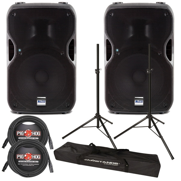 Alto TS115A Active 800W Speaker with Stands and Cables
