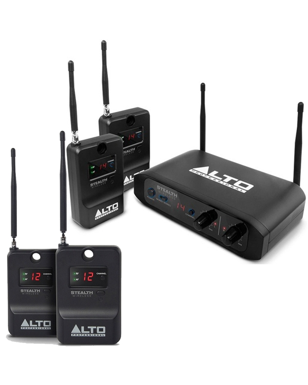 Alto Professional Stealth Wireless System for Active Speakers with Expander Pack