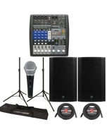 "Presonus AR8 Mixer + Mackie Thump 15A 1300 15"" Powered Speakers + Stands Bundle"
