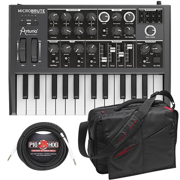 Arturia Microbrute 25-Key Analog Synthesizer Bundle with Bag and Cable