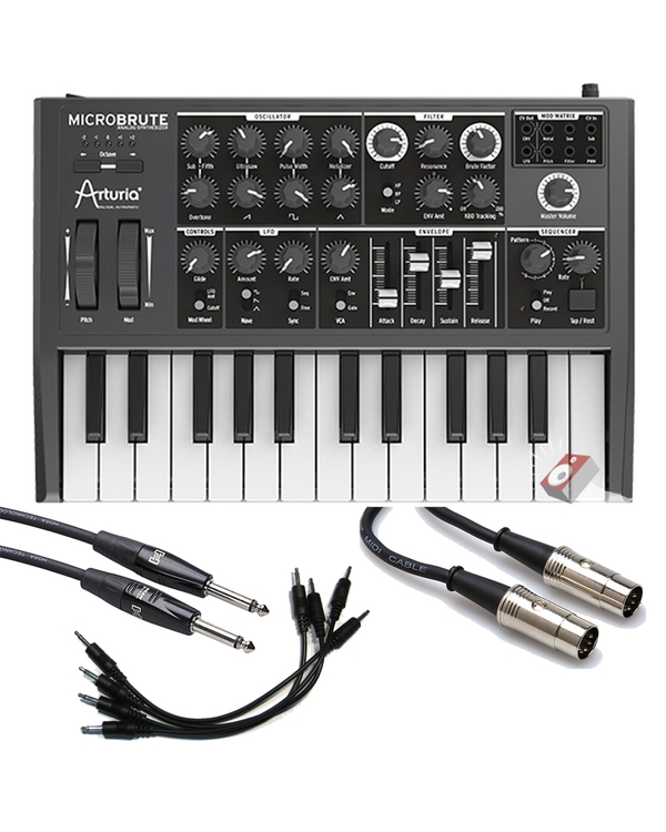 Arturia Microbrute Analog Synthesizer and Cable Kit