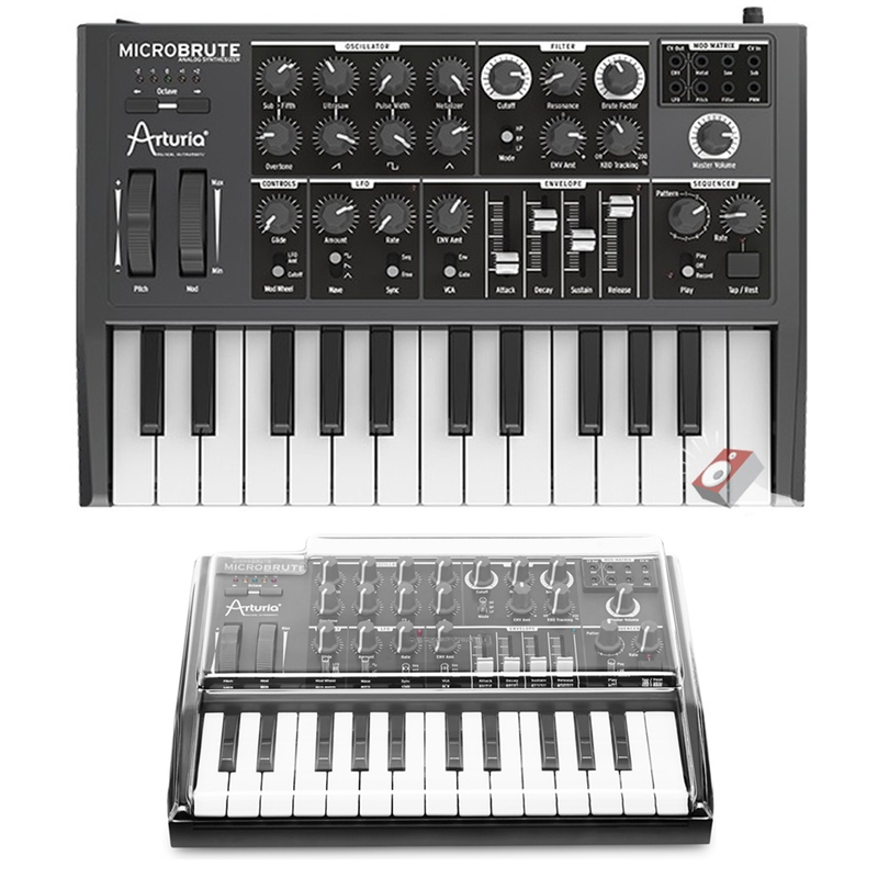 Arturia Microbrute 25-Key Analog Synthesizer and Mixware Decksaver Cover