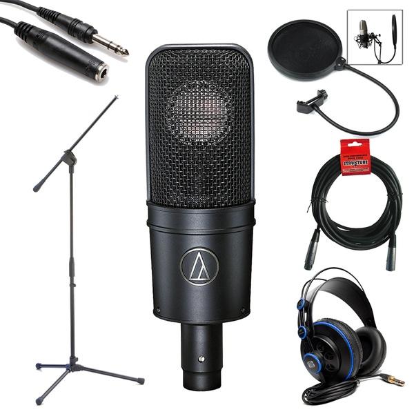 Audio Technica AT4040 Cardioid Condenser Microphone Studio Bundle