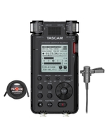 Tascam DR-100 MKIII Linear PCM Recorder with Audio-Technica AT831B Lav Mic and 25 ft XLR Cable