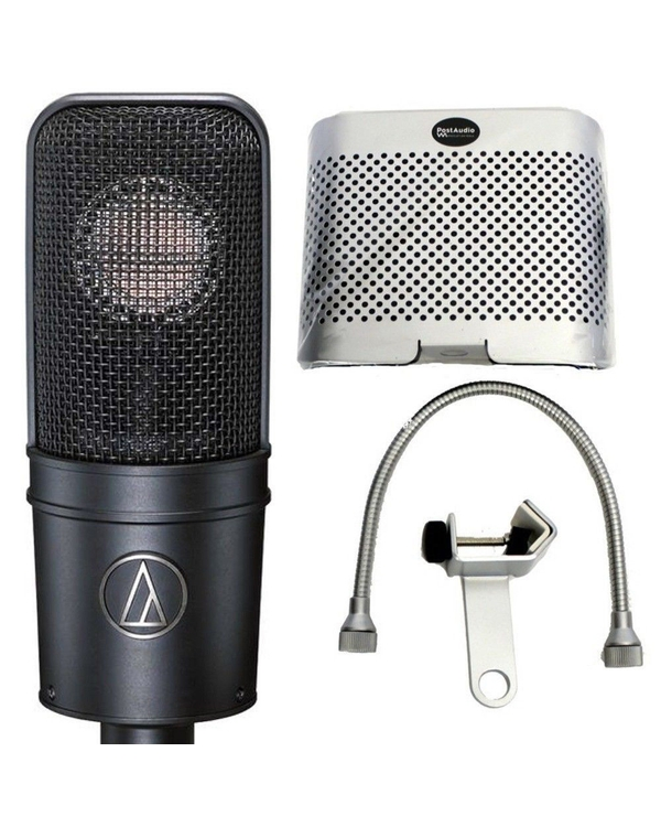 Audio Technica AT4040 Dynamic Studio Microphone w/ Small Reflection Vocal Booth