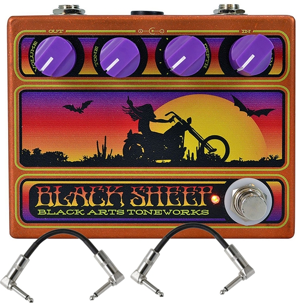 Black Arts Toneworks Black Sheep Fuzz Guitar Effects Pedal and Patch Cables
