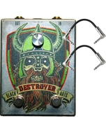Black Arts Toneworks Destroyer Fuzz Guitar Effects Pedal and Patch Cables