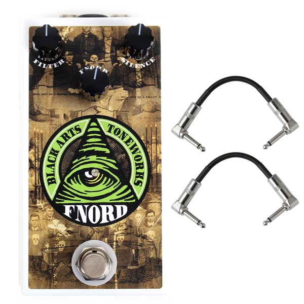 Black Arts Toneworks Fnord Octave/Fuzz Guitar Effects Pedal and Patch Cables