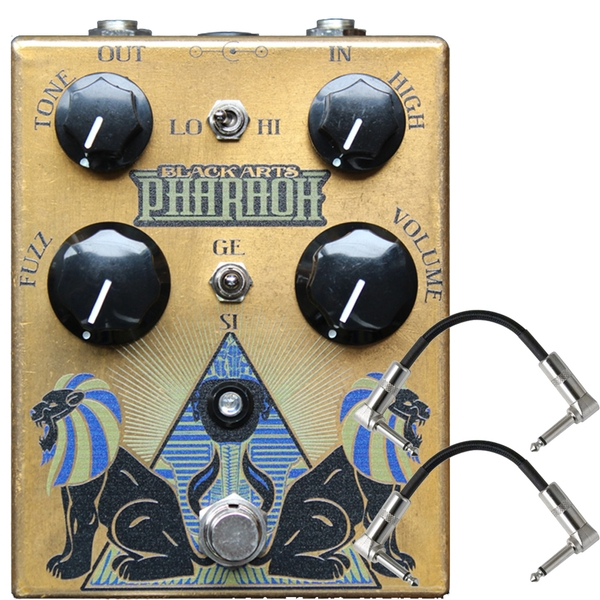 Black Arts Toneworks Pharaoh Fuzz Boost Guitar Effects Pedal and Patch Cables