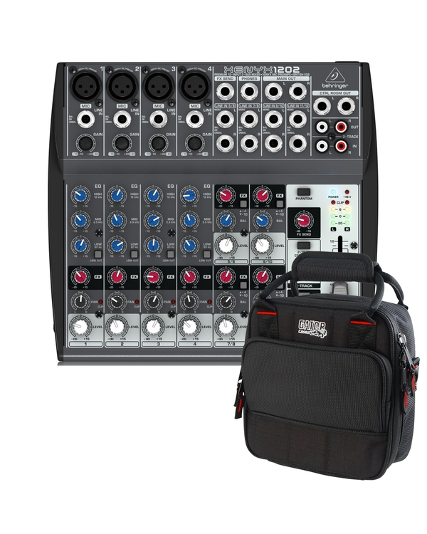 Behringer Xenyx 1202 12-Channel Audio Mixer with Gator Mixer Bag