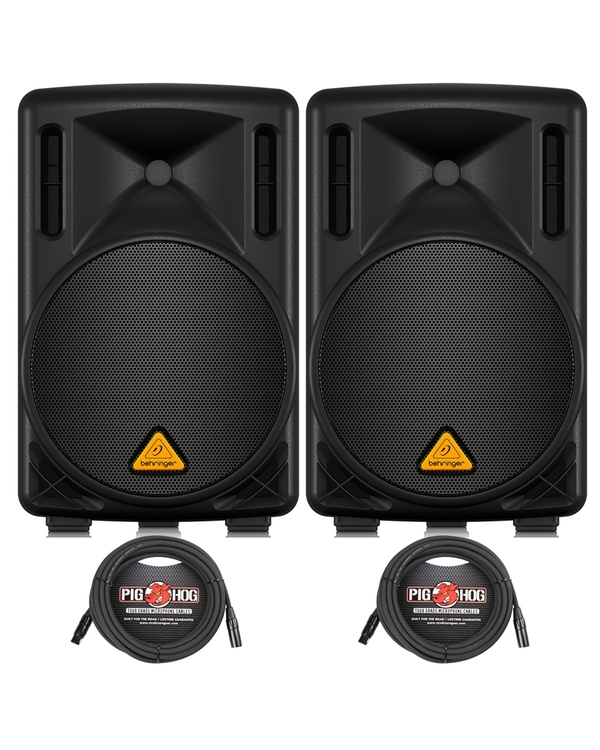 Behringer Eurolive B210D 2-Way Active Speaker Pair with (2) 20 ft XLR Cables