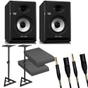 """Behringer NEKKST K5 Bi-Amped 5"""" Studio Monitor Pair with Stands, Isolation Pads, and Mogami Cables"""