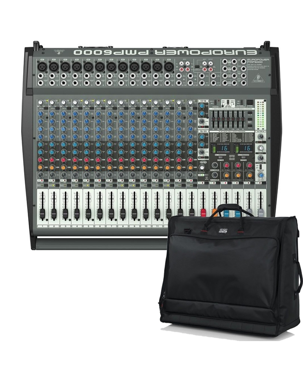 Behringer EUROPOWER PMP6000 Powered Multi-Effects Mixer with Gator Mixer Bag