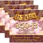 3 Sets of La Bella 850B Black Nylon Elite Series Golden Alloy Classical Guitar Strings, Medium (28-41)