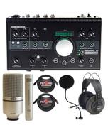 Mackie Big Knob Studio -24 Bit 192 kHz, Audio Interface + MXL 990-991 Mics Recording Bundle
