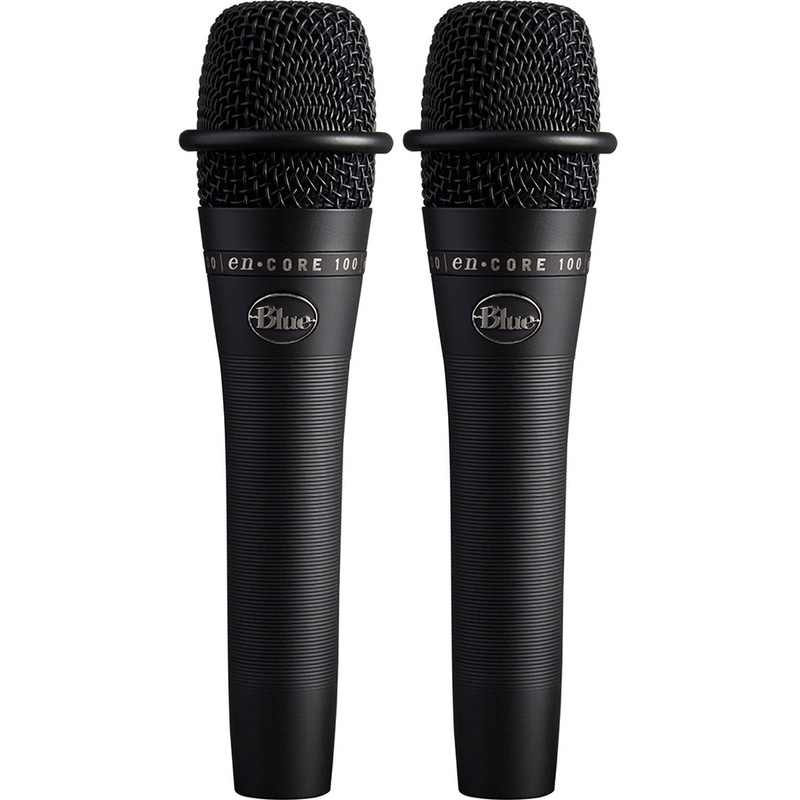 2-Pack of Blue Microphones enCORE 100 Dynamic Handheld Microphones, Black