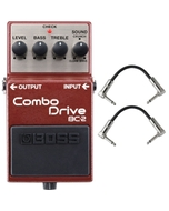 BOSS BC-2 Combo Drive Distortion Guitar Effects Pedal with Patch Cables