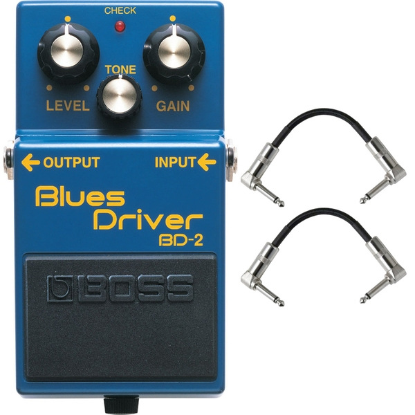 Boss BD-2 Blues Driver Pedal with Patch Cables