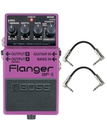 BOSS BF-3 Flanger Pedal with Patch Cables