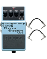 Boss CE-5 Chorus Ensemble Pedal with Patch Cables