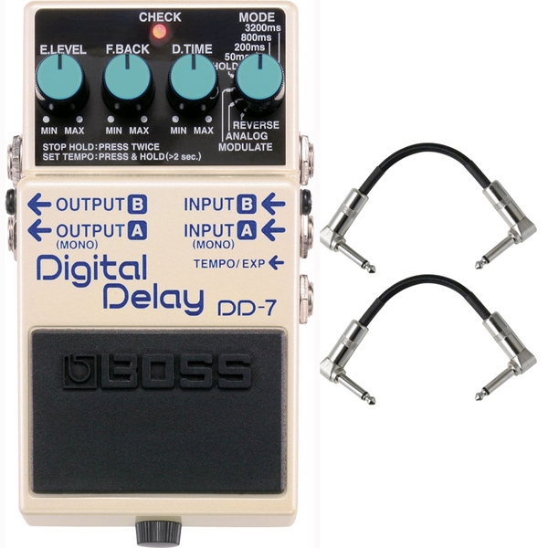 BOSS DD-7 Digital Delay Pedal with Patch Cables