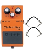Boss DS-1 Distortion Pedal with Patch Cables