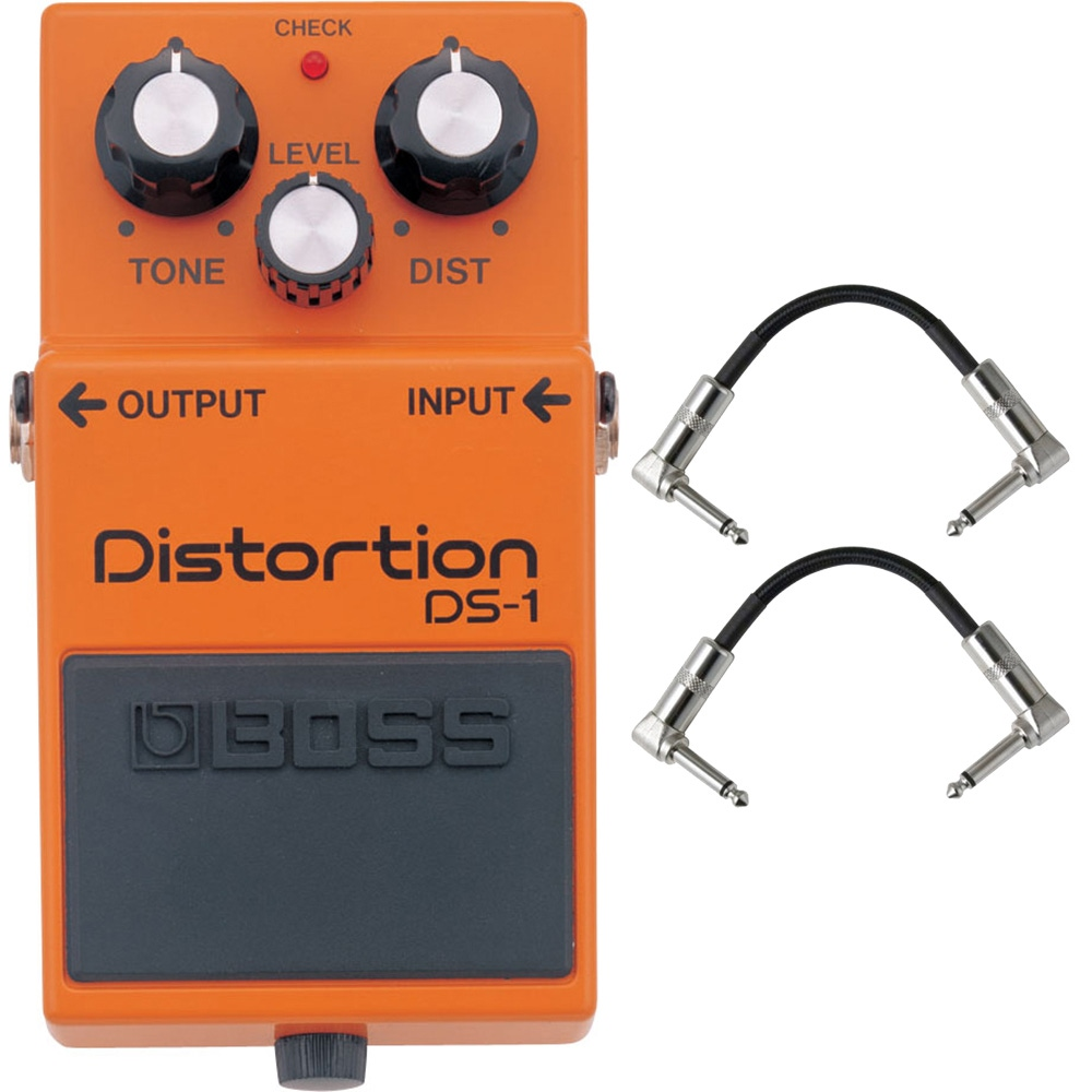 pitbull audio boss ds 1 distortion pedal with patch cables. Black Bedroom Furniture Sets. Home Design Ideas