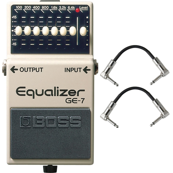 Boss GE-7 Graphic Equalizer Pedal with Patch Cables