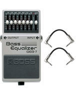 Boss GEB-7 Bass Equalizer Pedal with Patch Cables