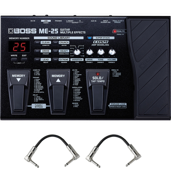 Boss ME25 Guitar Multi-Effects Pedal with Patch Cables