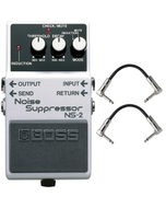 Boss NS-2 Noise Suppressor Pedal with Patch Cables
