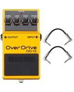 Boss OD-1X Overdrive Pedal with Patch Cables