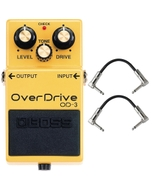 BOSS OD-3 Overdrive Guitar Bass Effects Pedal with Patch Cables