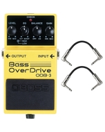 Boss ODB-3 Bass Overdrive Pedal with Patch Cables